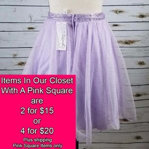 Speechless Tulle Glitter Skirt Juniors Sz 5 Purple